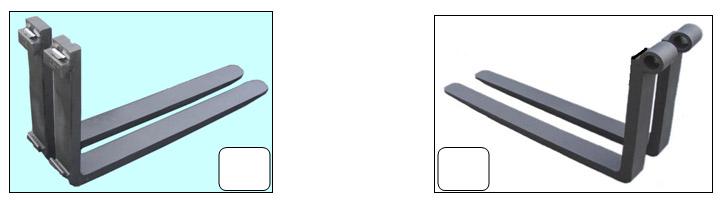 horquillas para montacargas de gancho o perno