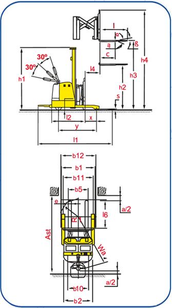diagrama WSER-1250P Apilador Eléctrico con Reach